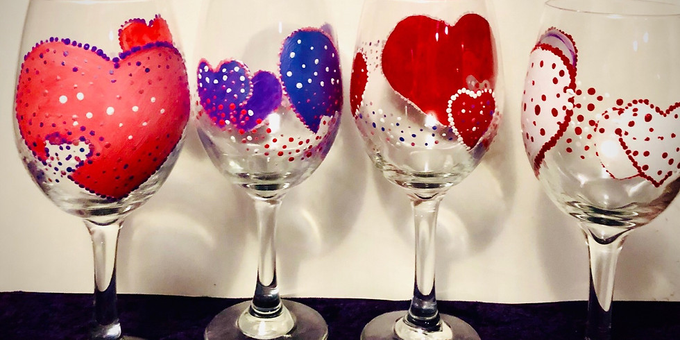 A little love goes a long way paint night