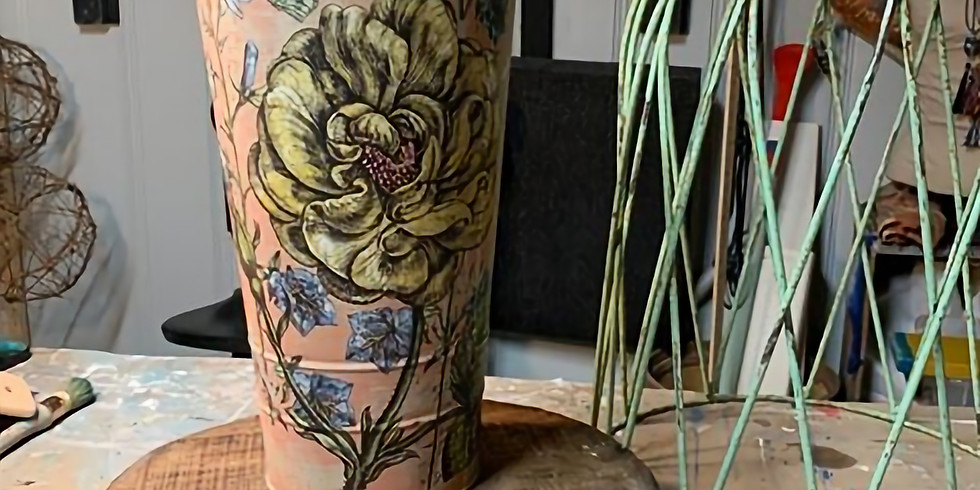 French Flower Bucket