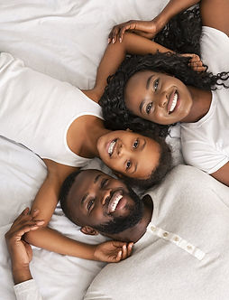 top-view-of-happy-black-family-lying-in-