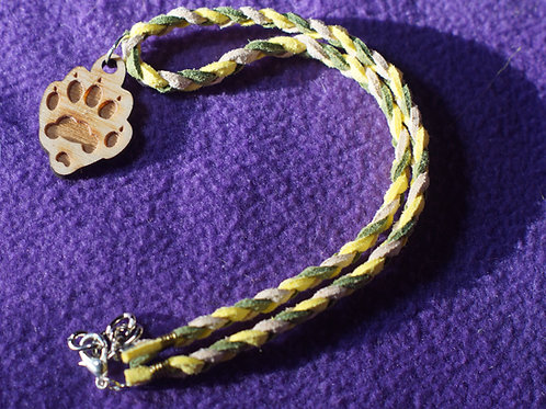 Plaited Paw Necklace