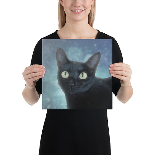 Black Cat Magic Canvas