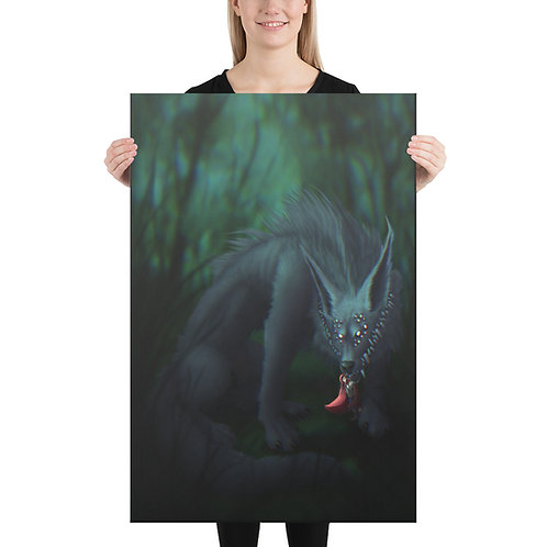 Little Red and the Big Eldritch Wolf Canvas