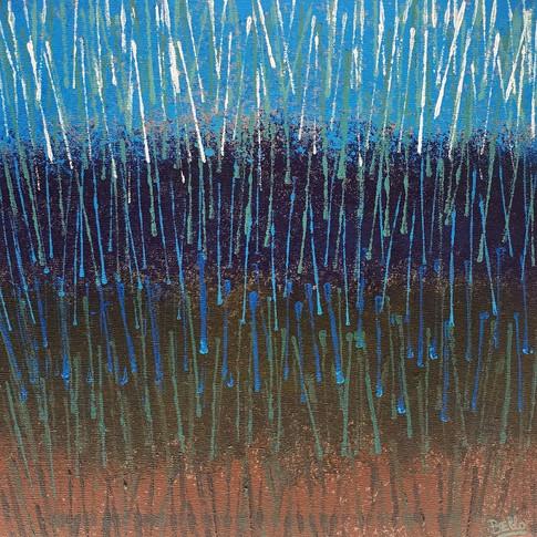Box blue particles/ Caja partículas azul