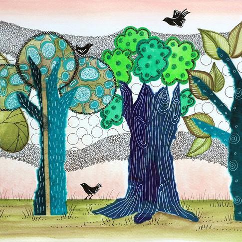 Blue trees/ Arboles azules