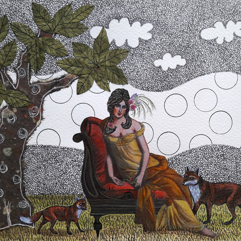 Lady with foxes/ Dama con zorros