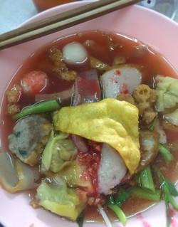 Seafood Noodle soup( Yen Ta Four)