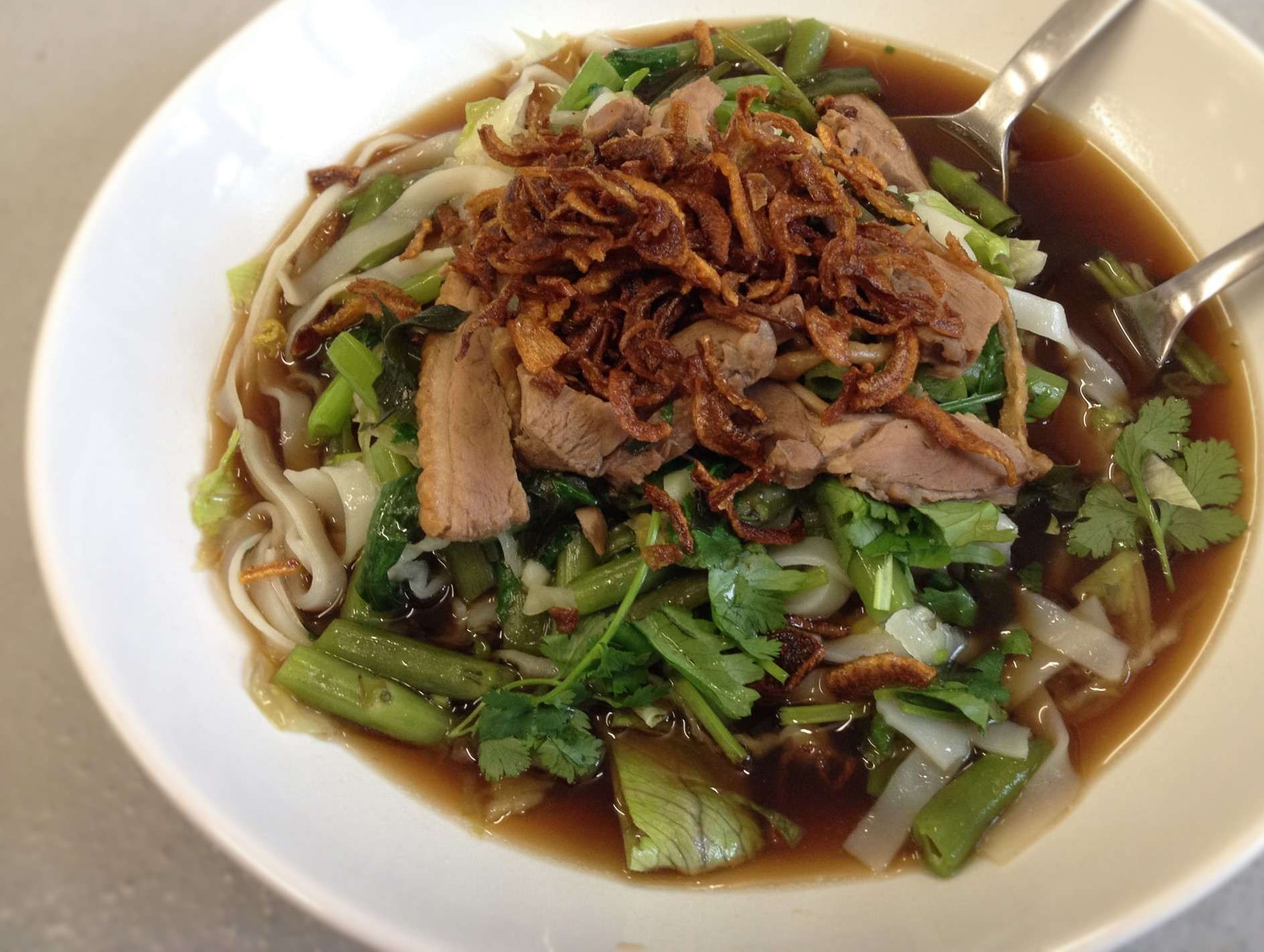 Roasted duck Noodle soup