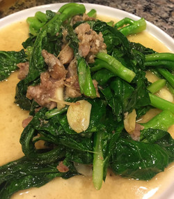 Stir fried Bok Choy with salted fish