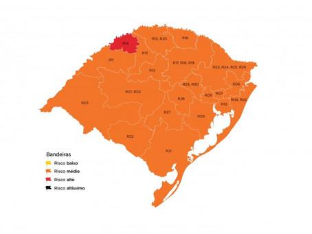 Região permanece na bandeira laranja na no Distanciamento Controlado