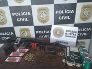 Polícia apreende armas e munições em Palmitinho
