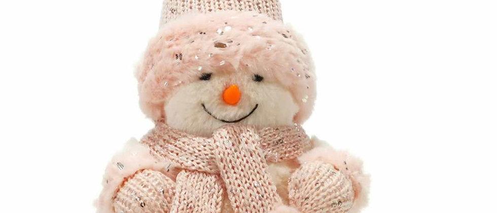 Pupazzo di neve rosa