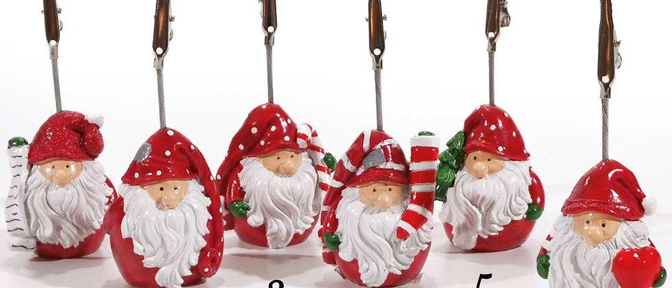 Segnaposto Babbo Natale con molletta
