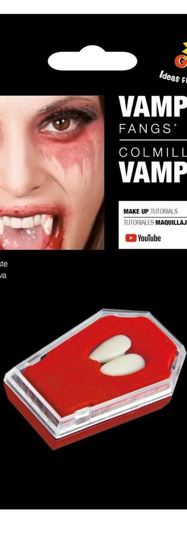 Denti da vampiro con colla