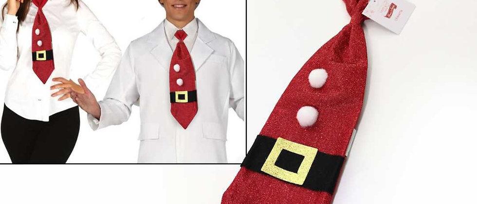Cravatta rossa natalizia