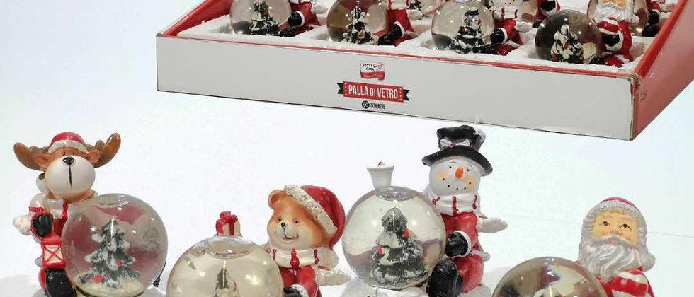Palla di neve con personaggio