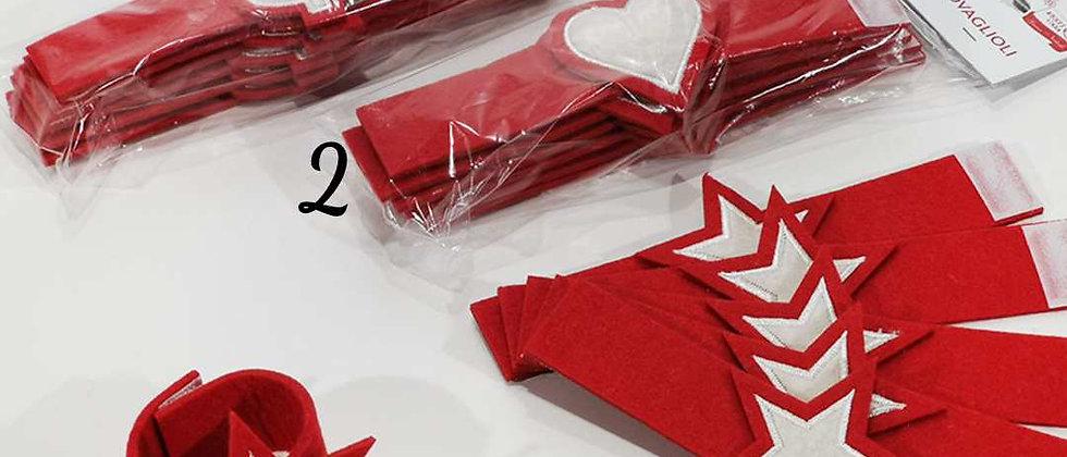 Confezione 6 Porta tovaglioli