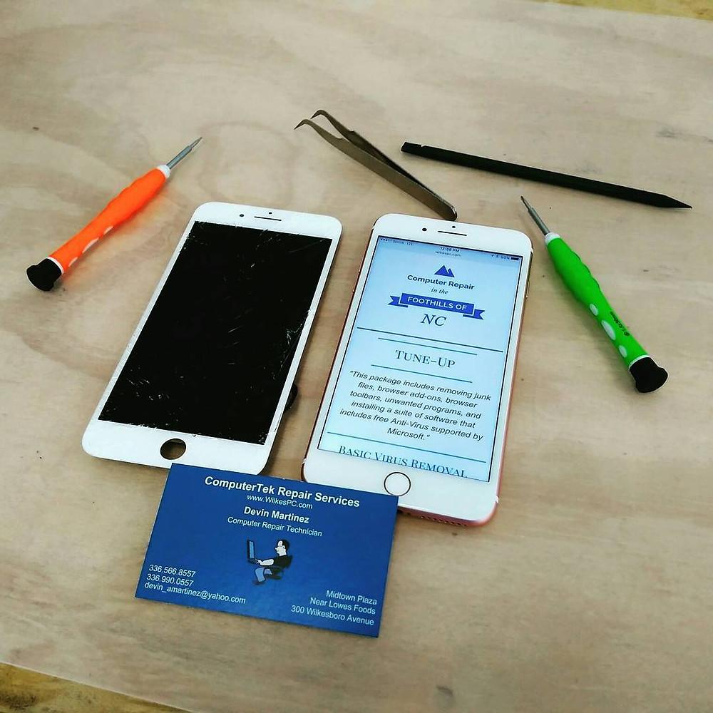 ComputerTek Repair Services - iPhone 6S Screen Repair - Wilkesboro, NC 28697