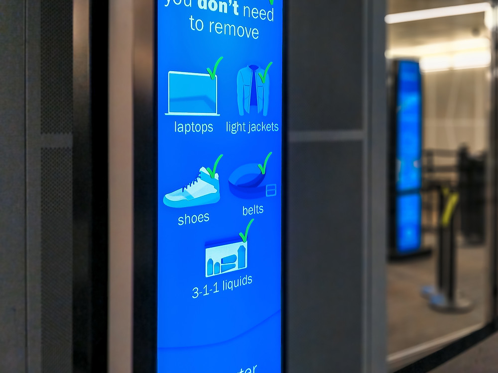 ReadySeeGo Easy Airport Digital Signage for Security