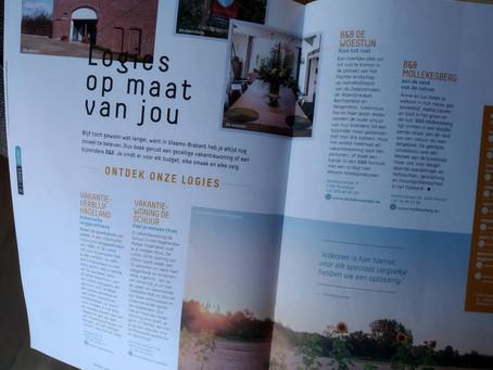 We werden in het magazine van Groene Gordel en Hageland gespot ! Joehoe !