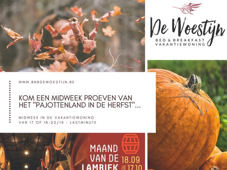 """Herfst in het Pajottenland... en de """"Maand van de Lambiek"""", een geslaagde combinatie !"""
