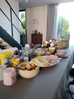 breakfast buffet with fresh regional products