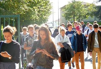 recouvrance 17100 saintes sortie des élèves