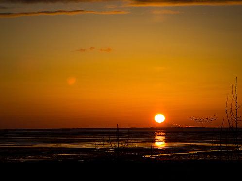 Anchorage Sunset 11X14 White Mat