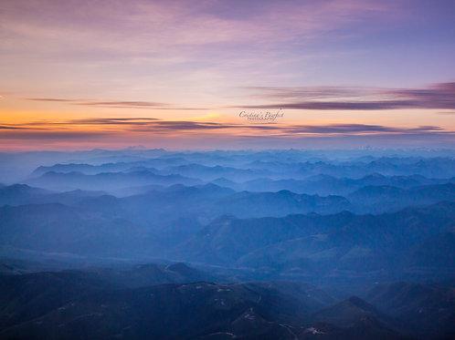 Cascades with Mt. Baker Sunset 8X10 Mat
