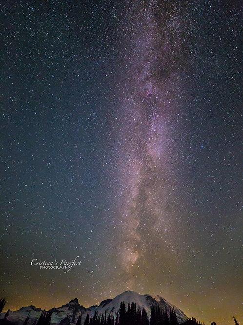 Milky Way Over Mt. Rainier 8X10 Mat