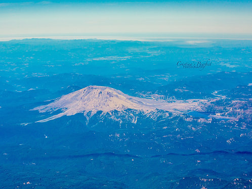 Mt. St. Helens from Above 11X14 White Mat