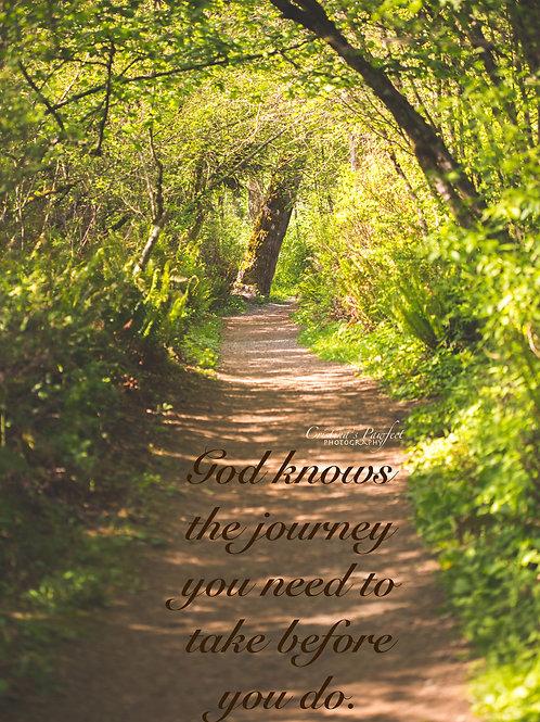 Life is a Journey 8X10 Mat