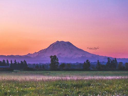 Mt. Rainier Sunrise 8X10 Mat