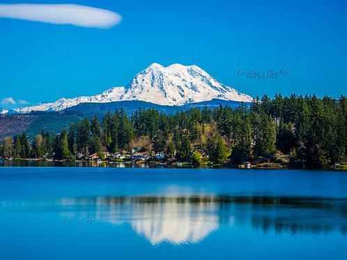 Mt. Rainier Over Clear Lake 8X10 Mat