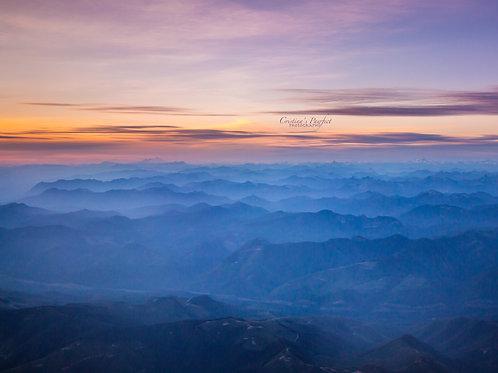 Cascades with Mt. Baker Sunset 11X14 White Mat