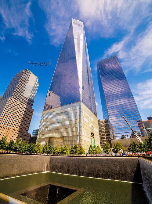 Freedom Tower Overlooking 9/11 Memorial 8X10 Mat