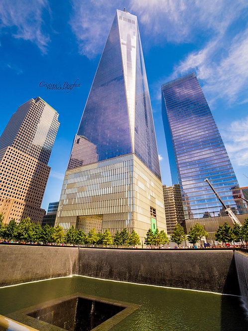 Freedom Tower Overlooking 9/11 Memorial 11X14 Mat