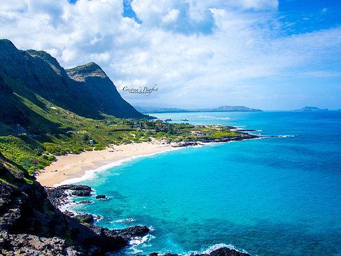Makapu'u Point Hawaii 11X14 White Mat