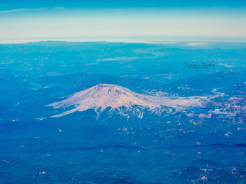 Mt. St. Helens from Above 8X10 Mat