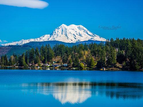 Mt. Rainier Over Clear Lake 11X14 White Mat