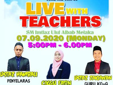 """Sesi Live Bersama Pendidik"""