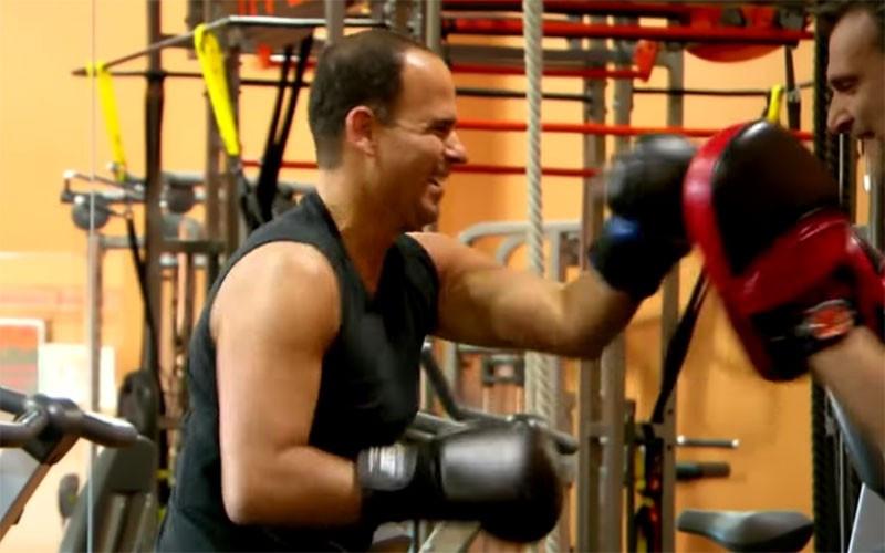 Marcus Lemonis - boxing training