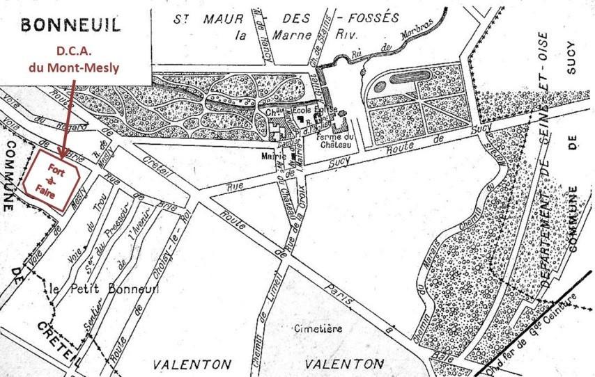 La D.C.A. du Mont-Mesly à Bonneuil-sur-Marne durant la Première Guerre mondiale