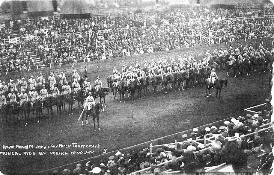Régiments de Dragons lors de la cérémonie de la victoire à Londres en 1919 à l'issue de la Première Guerre mondiale
