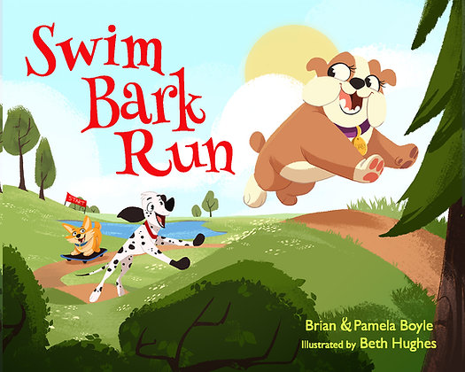 Signed copy of 'Swim Bark Run'