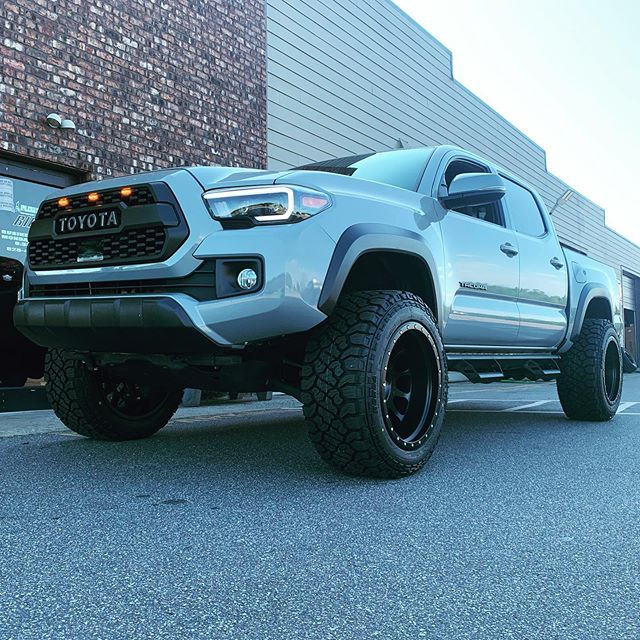"""Toyota Tacoma with 3"""" Rough Country lift"""