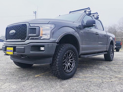 "Ford F-150 with 3"" Rough Country lift, 2"