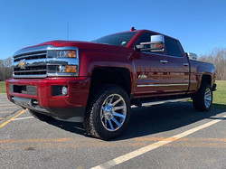 "Leveled Chevy 2500 with 20"" Fuel Contra"