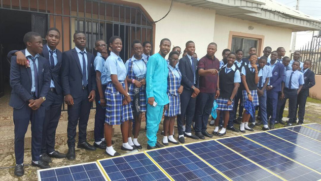 St. Augustine's senior students on vocational  solar power training with us
