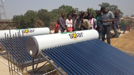 Solar Water Heating System Installed by students