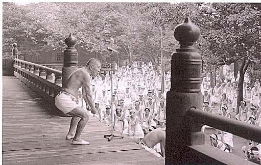 Nakamura Tempu Sensei teaching Japanese yoga